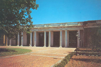 Davidson College, Davidson, N. C., E. H. Little Library from H. Smith Richardson Plaza<br />