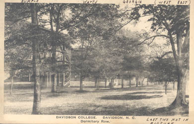 Davidson College, Davidson, N. C., Dormitory Row<br />
