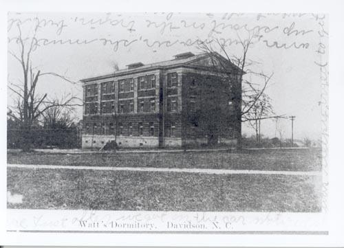 Watt's Dormitory, Davidson, N.C.<br />