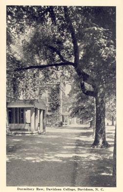 Dormitory Row, Davidson College, Davidson, N. C.<br />