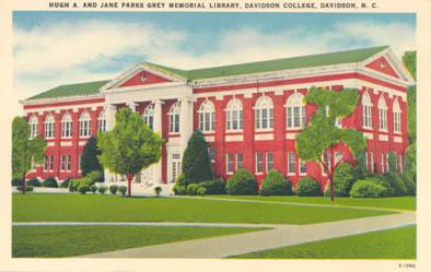 Hugh A. and Jane Parks Grey Memorial Library, Davidson College, Davidson, N. C.<br />