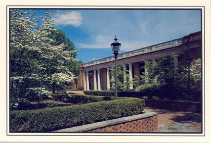 Richardson Plaza and E. H. Little Library, Davidson College, Established 1837<br />