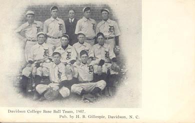 Davidson College Base Ball Team, 1907. Pub. H.B. Gillespie, Davidson, N.C.<br />