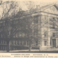 West Dormitory, similar is design and construction to Watts and East Davidson College, Davidson, N. C.<br />