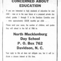 Private Day School Ad