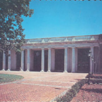 Davidson College, Davidson, N. C., E. H. Little Library from H. Smith Richardson Plaza<br />