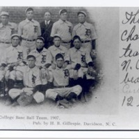 Davidson College Base Ball Team, 1907. Pub. H.B. Gillespie, Davidson, N.C.<br />