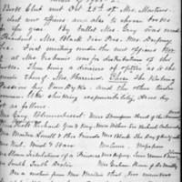 Minutes 25 October 1901