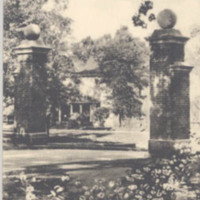 Entrance to Campus, Davidson College, Davidson, N. C.<br /><br />