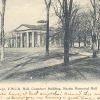 Davidson College. Y.M.C.A. Hall, Chambers Building, Martin Memorial Hall